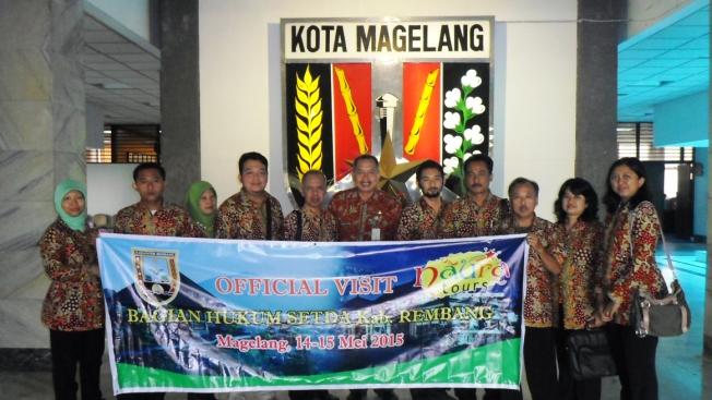 Bagian Hukum Setda Kabupaten Rembang Study Banding di Magelang